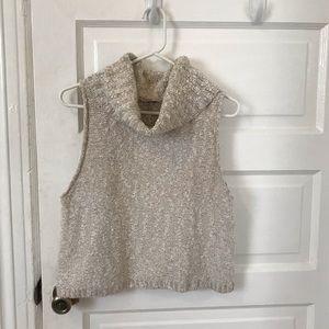 FREE PEOPLE Turtleneck Sleeveless Sweater, Sz M